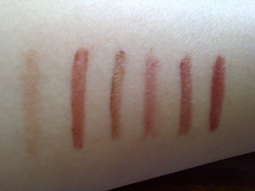 Swatches in natural night from left to right in the order numbered above