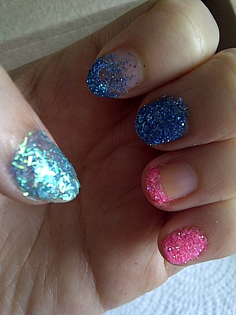 Swatches of the wid thing duo and confetti glitter and possible different styles