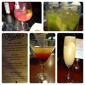 The delish cocktails
