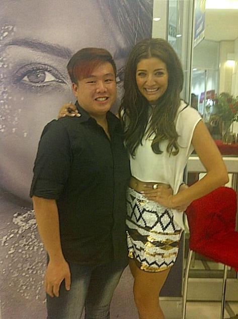 Phillip Chen(rising designer) with Jeannie D