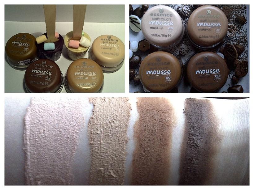Going from L to R the swatched shades are 09 matt porcelain, 02 matt beige, 50 matt caramel and 60 matt mahogany