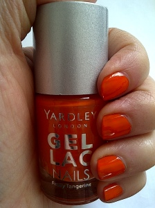 yardley gel lac nails firey tangerine