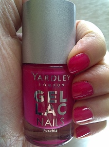 yardley gel lac nails fuschia