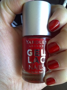 yardley gel lac nails scarlet red
