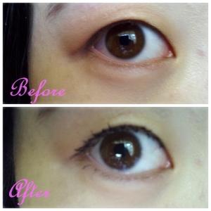 Rimmel supercurler mascara before and after
