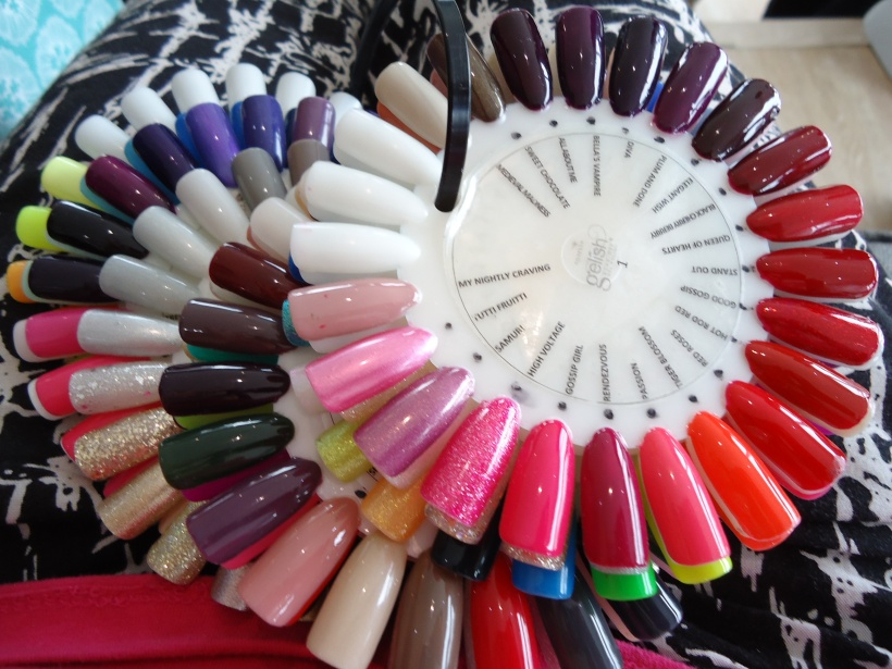 all the gelish colours you can choose from