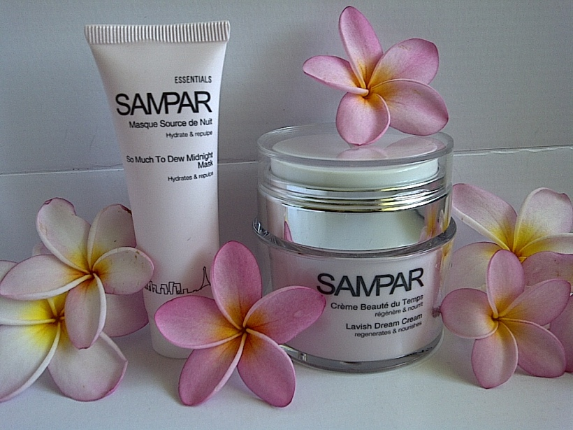 Sampar lavish dream cream and sampar so much to dew midnight mask