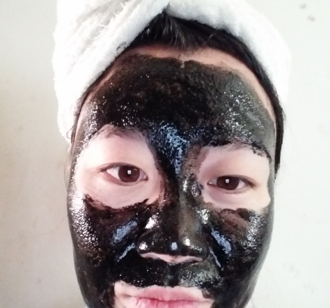 pilaten blackhead remover mask applied